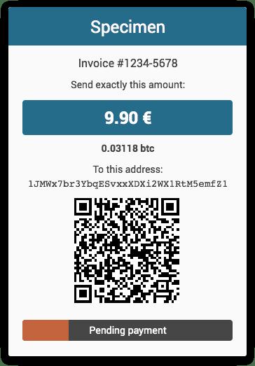 Specimen - Invoice