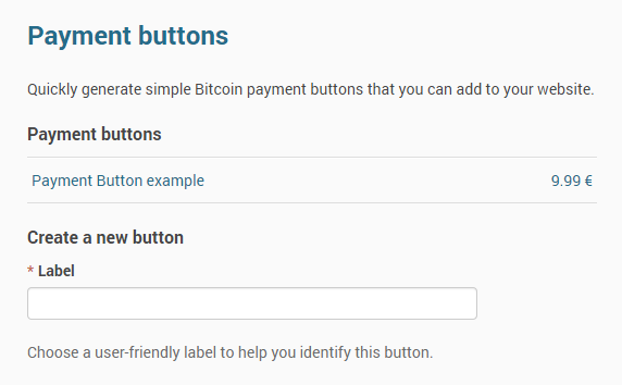 Payment Buttons - Accept Bitcoin payments on your website using a single line of code